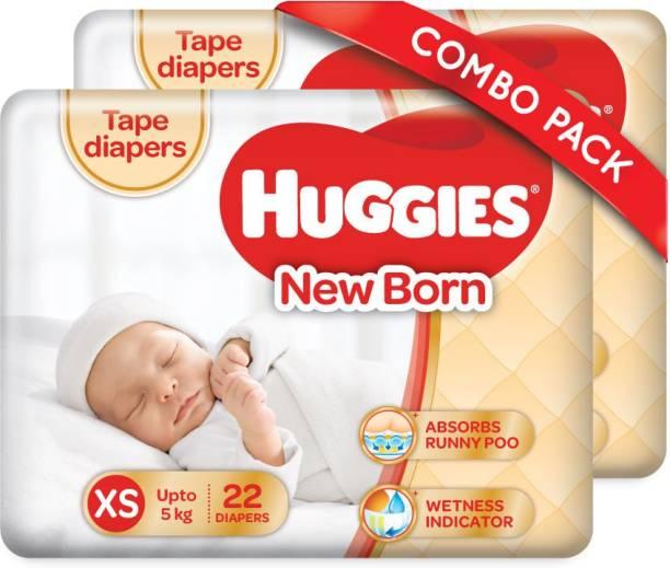 Huggies Ultra Soft Pants Tape Diapers -Combo Pack - XS