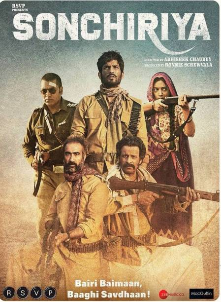 Sonchiriya best movie in Hindi HD print it's burn data dvd play only in computer or laptop it's not original without poster