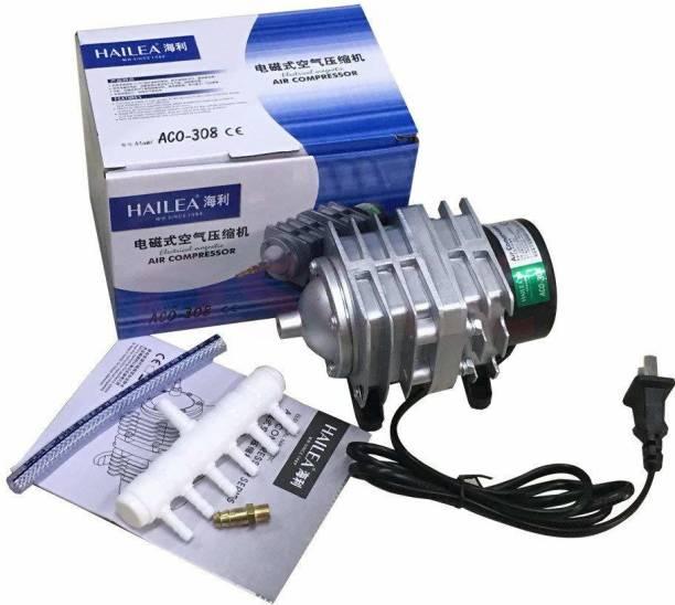 Hailea Hailea Electromagnetic Air Compressor Oxygen Pump Air Supply for Aquarium Fish Tank Six Outlets (ACO-308) Air Aquarium Pump