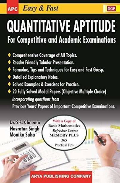 Easy & Fast Quantitative Aptitude (For Competitive and Academic Examinations) Paperback – 2019