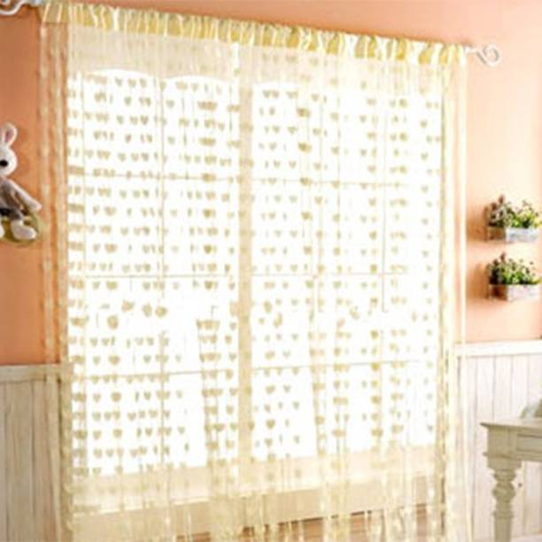 Home Expert 183 cm (6 ft) Tissue Window Curtain Single Curtain