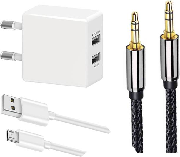 OTD Wall Charger Accessory Combo for Meizu M6T, Micromax A101, Micromax A177 Canvas Juice, Micromax A35 Bolt