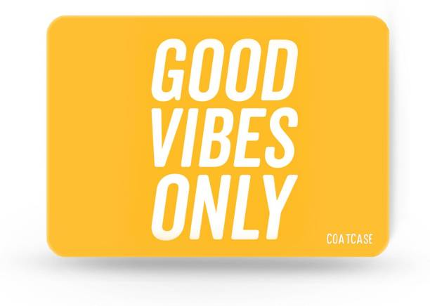 COATCASE A-01 Good Vibes Only Printed Rubber Base with Anti Skid Feature for Computer and Laptop Gaming Mousepad