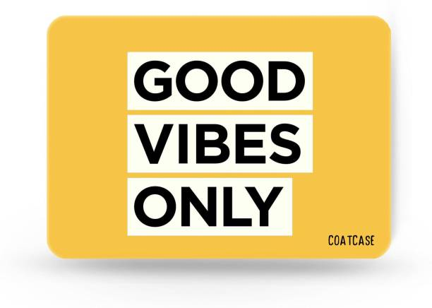 COATCASE A-04 Good Vibes Only Quote Printed Designer Rubber Base with Anti Skid Feature Mousepad