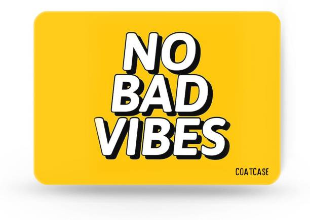COATCASE A-05 Good Vibes Only Quote Designer Rubber Base Mousepad