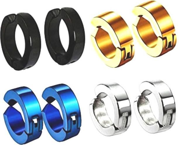 26fec3a93f7151 AMAAL Jewellery Non-Pierced Magnet Bali Ear rings / Earrings Combo Stainless  Steel Hoop Earring