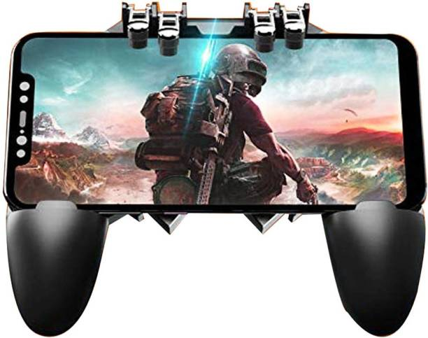 LIFEMUSIC Gamepad AK-66 Six Finger All-in-One Mobile Game Controller Mobile Phone Gamepad Handle L1R1 Fire and Aim Button PUBG Trigger Shooter Joystick  Gaming Accessory Kit