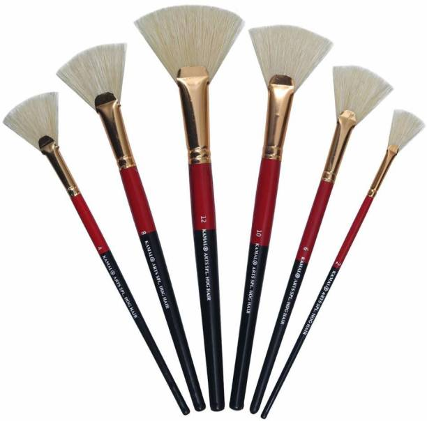 KAMAL Artist Quality HOG Hair Fan Brush Set