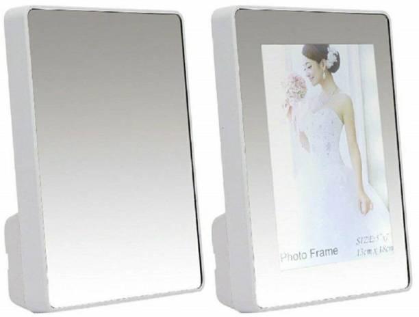Toyvala Photo Frame With Mirrror Glass 7 inch Mirror frame