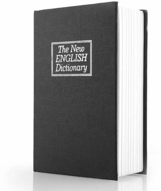 R H lifestyle 7 inch Metal Book Safe Locker Jewellery Home Box Dictionary Safe Locker
