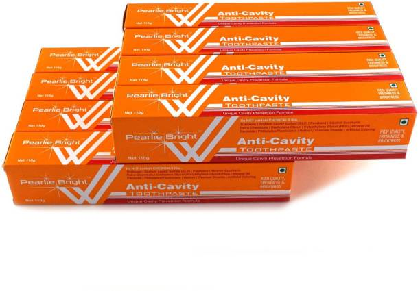 Pearlie Bright Anti-Cavity (Pack of 8) Toothpaste