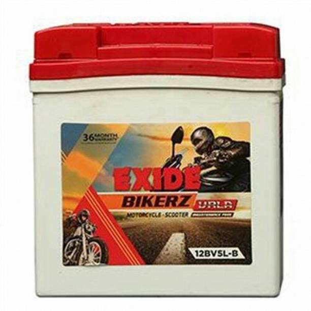 EXIDE 12BV5L-B 5 Ah Battery for Bike