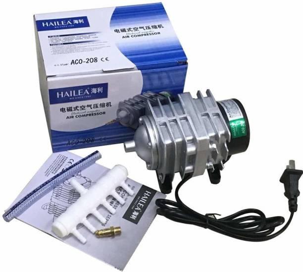 Hailea Electromagnetic Air Compressor Oxygen Pump Air Pump Air Supply for Aquarium Fish Tank Six Outlets (ACO-208) Air Aquarium Pump