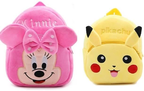 3G Collections Kids Plush Bag/ Backpack Bag/ School Bag/ Picnic Bag/ Teddy Bag- Pack of 2 Waterproof School Bag