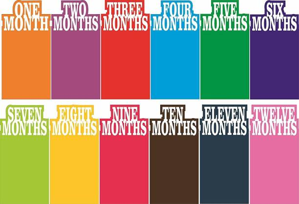 SYGA 1 to 12 Month Rainbow Baby and Couple Banner Banner