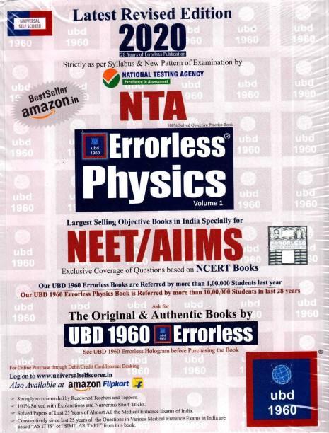 Ubd 1960 Errorless Physics for Neet/Aiims Latest 2020 Edition as Per Examination Bt Nta - UBD1960 Errorless Physics for NEET Latest 2020 Edition as per Examination by NTA (Set of 2 volumes) by Universal Book Depot 1960