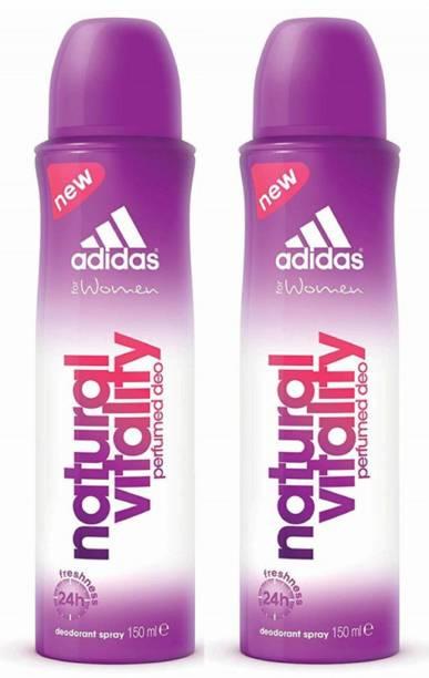 ADIDAS Natural Vitality Deodorant Body Spray for Women 150ML Each (Pack of 2) Deodorant Spray  -  For Women