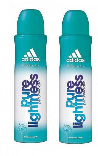 ADIDAS Pure Lightness Deodorant Body Spray for Women 150ML Each (Pack of 2) Deodorant Spray  -  For Women