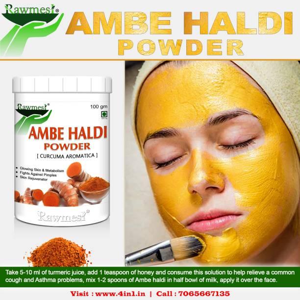 Rawmest Pure Ayurvedic Natural Ambe Haldi Wild Kasturi Manjal Turmeric Powder