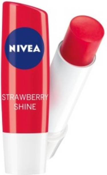 NIVEA NEW STRAWBERRY SHINE CARING LIP BALM STRAWBERRY