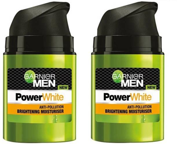 GARNIER Men Power White UV Protection Brightening Moisturiser (Pack of 2)