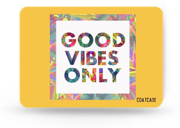 COATCASE A-07 Good Vibes Only Printed Rubber Base with Anti Skid Feature for Computer and Laptop Gaming Mousepad
