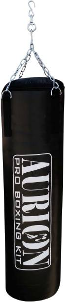 Aurion Filled Heavy Punch Bag 2 FEET Boxing MMA Sparring Punching Kickboxing Hanging Bag
