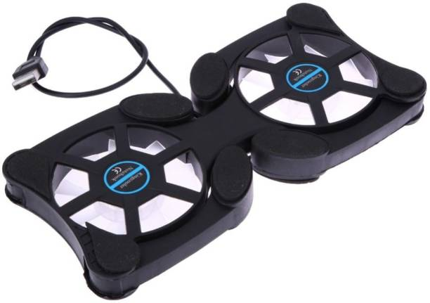 Sea Shell Foldable USB Laptop/Notebook with 2 Fans 2 Fan Cooling Pad