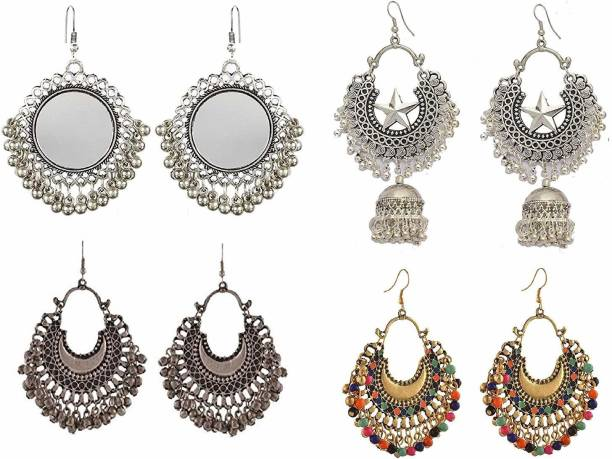 cfac62a9e Shining Angel Combo Of 4 Earrings for Women and Girls Brass Drops & Danglers
