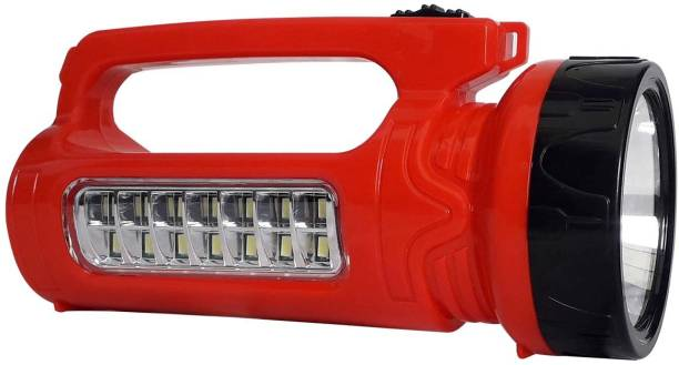 24 ENERGY 10W Laser LED Torch With 14 Hi-Bright LED Rechargeable Solar Torch Emergency Light