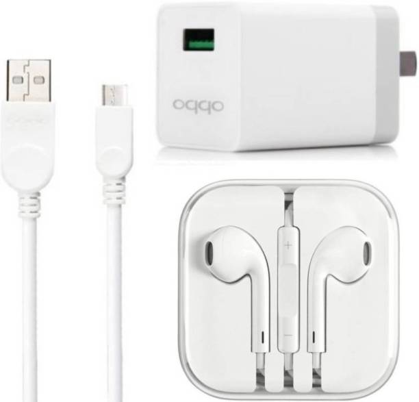OPPO Wall Charger Accessory Combo for oppo mobile phone charger, oppo f1 s, oppo f3, oppo f5, oppo A37Buy With Best Seller Garg Associates(White)