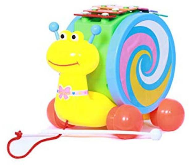 TEMSON Musical Snail with Xylophone for Kids Push and Pull
