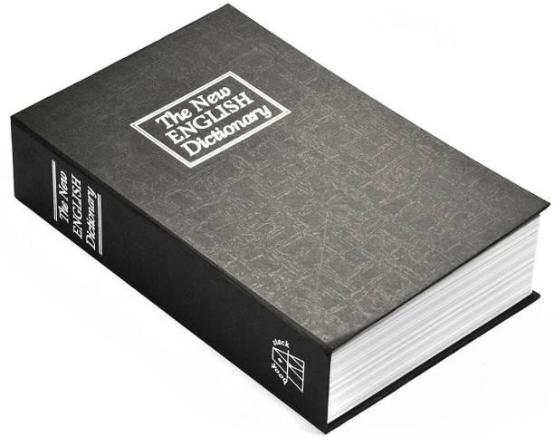 R H lifestyle 9.5 inch Metal Book Safe Locker Jewellery Home Box Dictionary Safe Locker