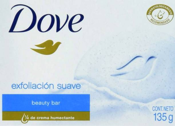 DOVE Imported (Made in Germany) Exfoliacion suave Beauty Bar