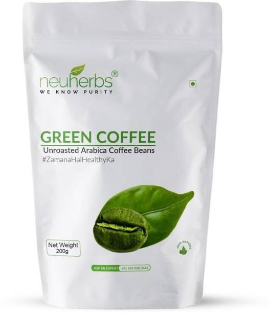 Neuherbs Organic Green Coffee beans for Weight Loss Management 200g Instant Coffee