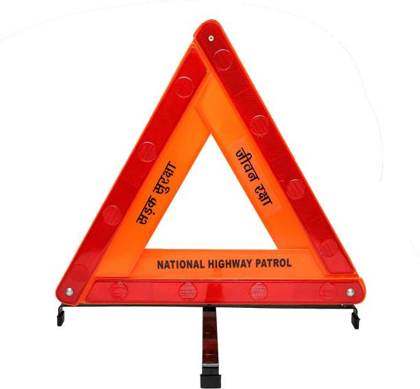 Safies Road Safety Reflective Warning Triangle With Double Stand Emergency Sign