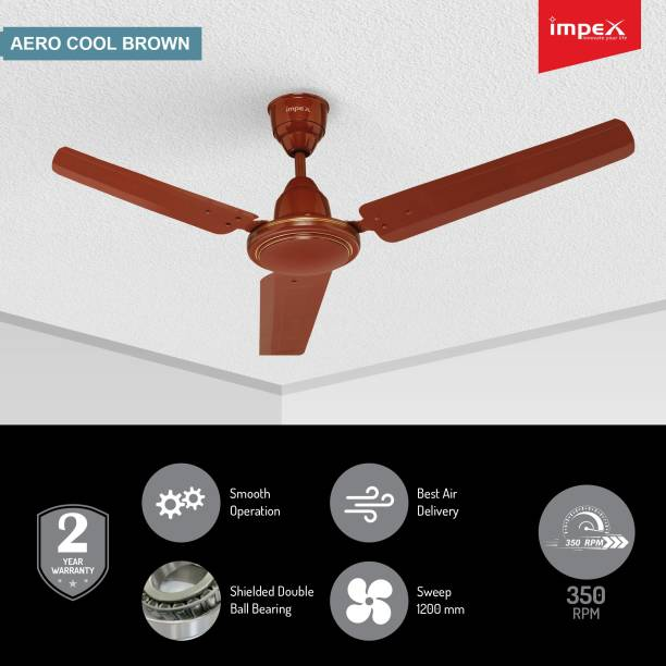 IMPEX Aero Cool 1200 mm 3 Blade Ceiling Fan