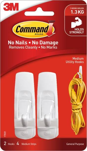 Command Command™ Medium Utility Hooks , 2 hooks, 4 strips Hook