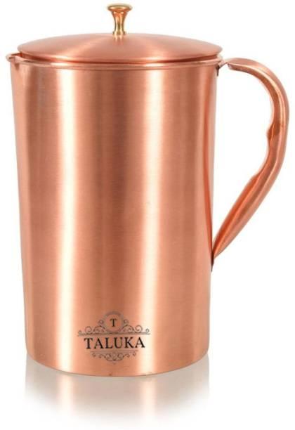 TALUKA 2 L Water Pure Copper Matte Finish Water Jug Use For Home Hotel Jug