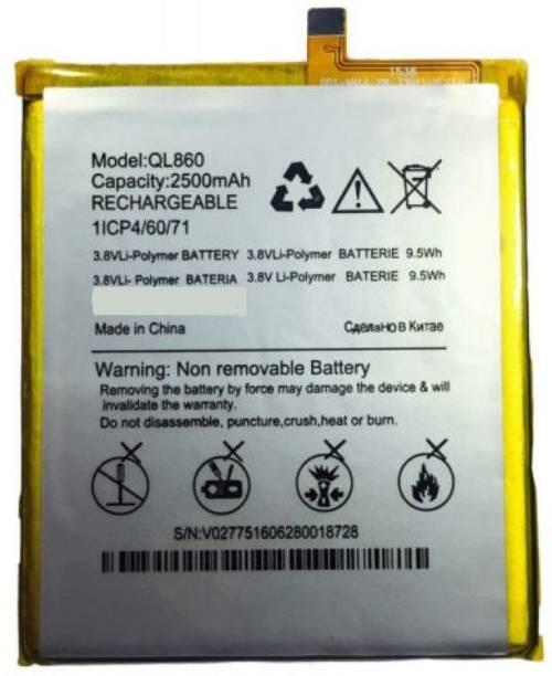 GOHAPS Mobile Battery For  Micromax 100% Original QL860 Battery for Micromax Canvas Xpress 4G Q413 with 2500 mAh