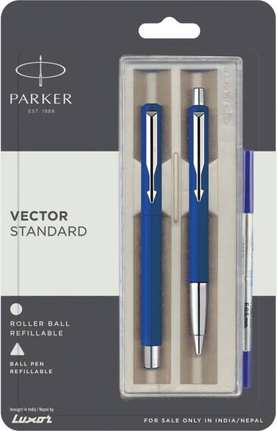 PARKER Vector Stdard CT(Roller Ball+Ball pen) Pen (Blue) Pen Gift Set