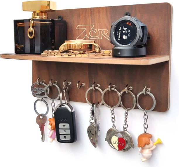 7CR key holder F shelf (WB) Wooden Key Holder