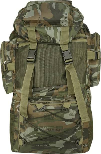 Kouzi 70ltr. Water proof Tracking Rucksack Bag Travelling Bag(Green) Rucksack  - 70 L