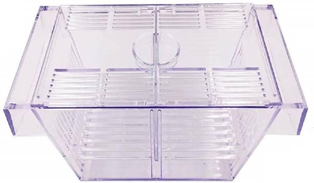 Venus Aqua Breeding Box Aquarium Fish Tank Hatchery Incubator, Acrylic White Breeder Isolation Divider Hatching Boxes Accessory for Small Baby Fishes Shrimp Clownfish Guppy (Medium: 7.7x3.9x3.9 Inch) Rectangle Aquarium Tank