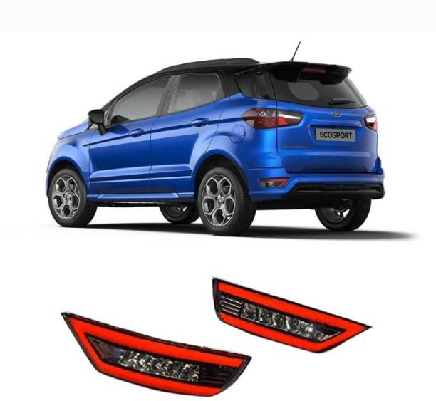 PRTEK Car Led Brake Light for Bumper Drl for Ecosport with Reverse Light Function Car Reflector Light