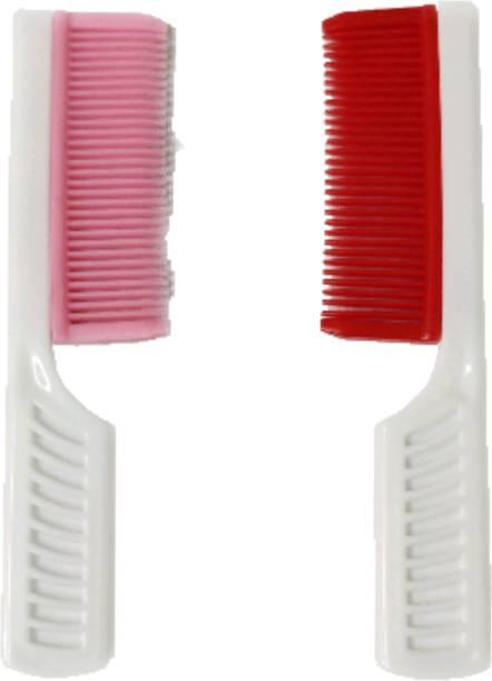 ClueSteps Set of 2 Pocket Hair Comb Smooth Comb Teeth Multicolor