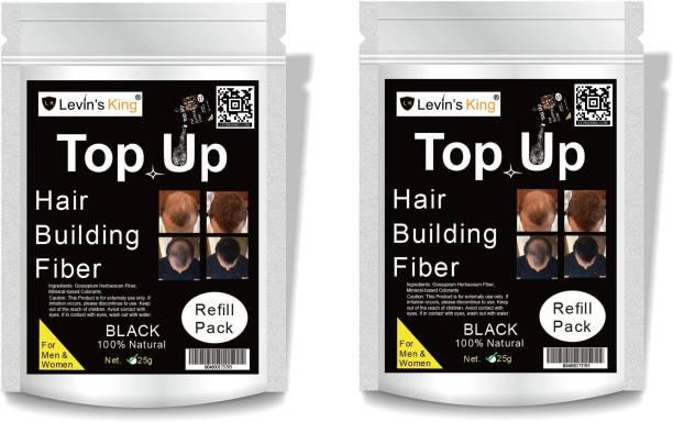 Levins King Hair Building Fiber, Refill Pack Use For All hair fiber,