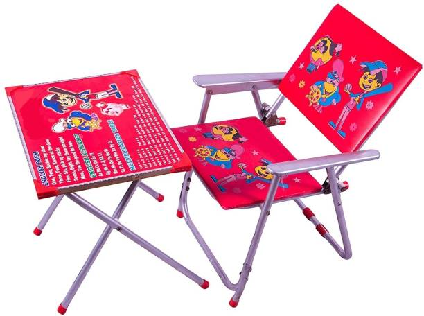 Avani MetroBuzz Kids Table and Chair Set Red Solid wood Desk Chair