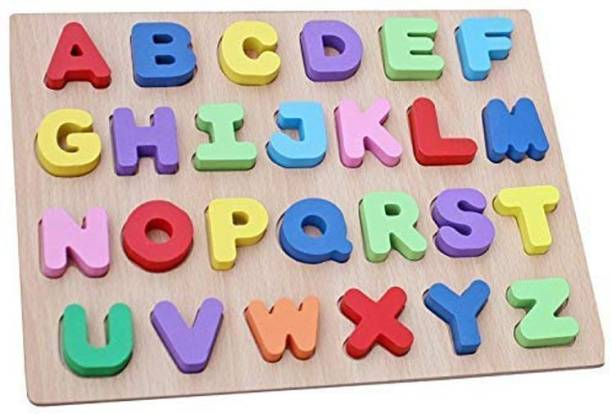 Webby Learning Educational Wooden Capital Alphabets Letters Tray Toy for Kids