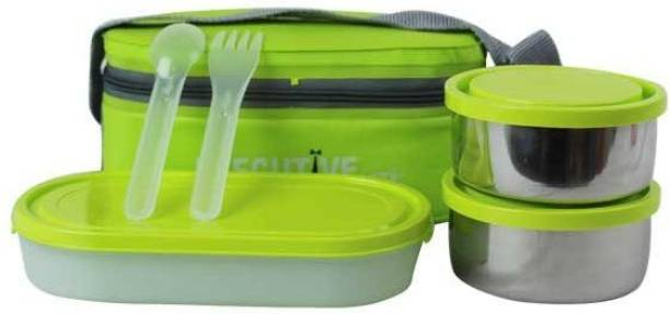 MILTON INTELLIGENT HOMEWARE EXECUTIVE LUNCH INSULATED TIFFIN 3 Containers Lunch Box